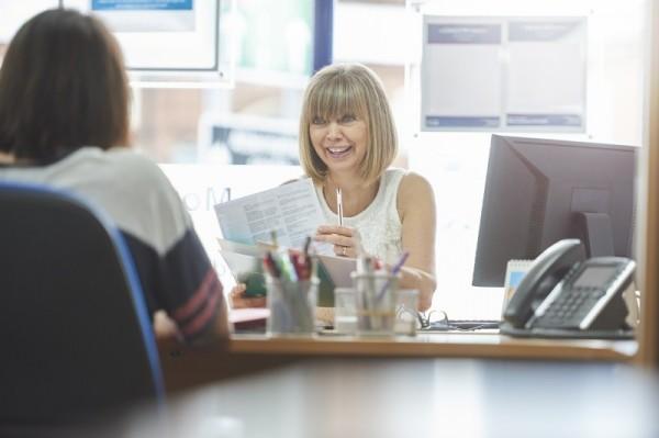 Klient w kancelarii rachunkowej